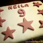 Gâteau d'Anniversaire de star: Chocolat / Framboise (sans gluten)