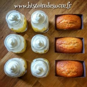 Cake Jars: Pain d'épices, lemon curd et chantilly