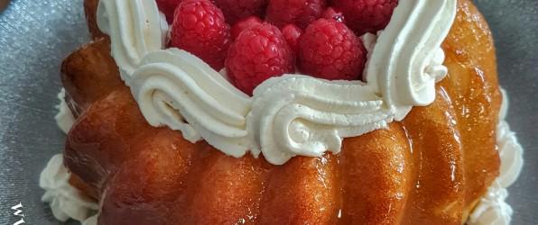 Savarin framboise vanille (sans alcool)